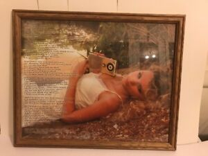 Rare Taylor Swift - Tim McGraw Poster - Framed