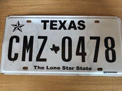 Vintage Pressed Metal 12x6 Texas Number Plate CMZ0478
