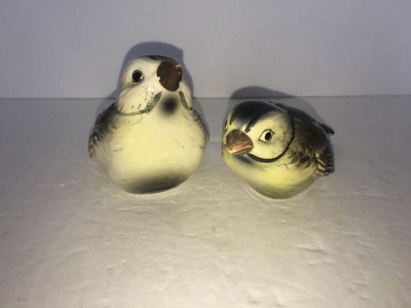 """Vintage Pair Of Porcelain Sparrows 3"""""""