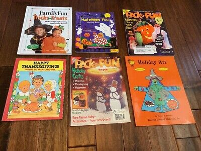 Kid Halloween Projects (Lot 6 Child Halloween Thanksgiving Projects Art Crafts Idea Books Teacher)