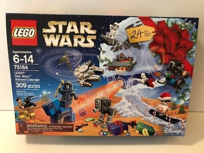 Lego Star Wars Advent Calendar 75184 Building Kit 2017 Christmas Holiday Bb8 New
