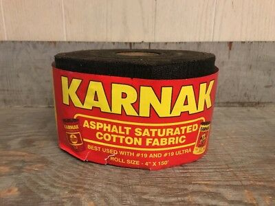 Karnak 00028 Roll 4 X 150 Asphalt Saturated Cotton Fabric