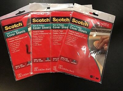 Lot Of 4 Packages 20 Total Sheets Scotch Peel Protect Cover Sheets New