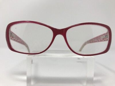 Affordable Eyewear Eyeglasses 55-15-140 Clear Pink Tina Red 3756