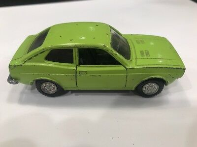 Mercury Fiat 128 SL 1300 Italy 1/43 Green Vtg European Market Toy Die Cast Car