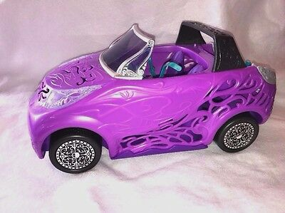 MATTEL Monster High Scaris City of  Purple Car Convertible Toy Car