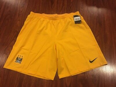 2014-15 Nike Men's Manchester City Away Soccer Jersey Shorts XXL 2XL GK image
