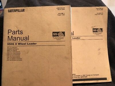 Caterpillar 950g Ii Wheel Loader Parts Manual 2 Volume Set Ayl1-up Sebp3280-49