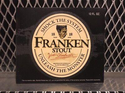 Halloween Beer Labels (GUINNESS STOUT BEER Mock Bottle Label ~ FRANKEN STOUT ~ Funny Halloween)