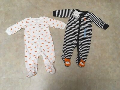 Carters Infant Boys 6M Terry Cotton Blend Snap Sleep and Play 2-Piece Set