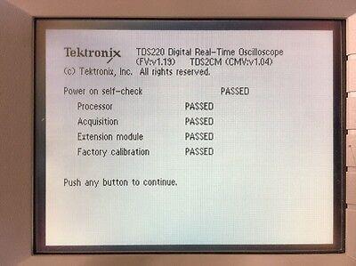 Tektronix Tds 220 Digital Oscilloscope Wtds2cm Serial Gpib Interface