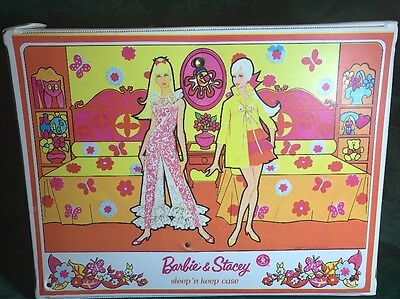 Mattel 1968 Barbie & Stacy Sleep 'n Keep Carry Case trunk doll travel carrying