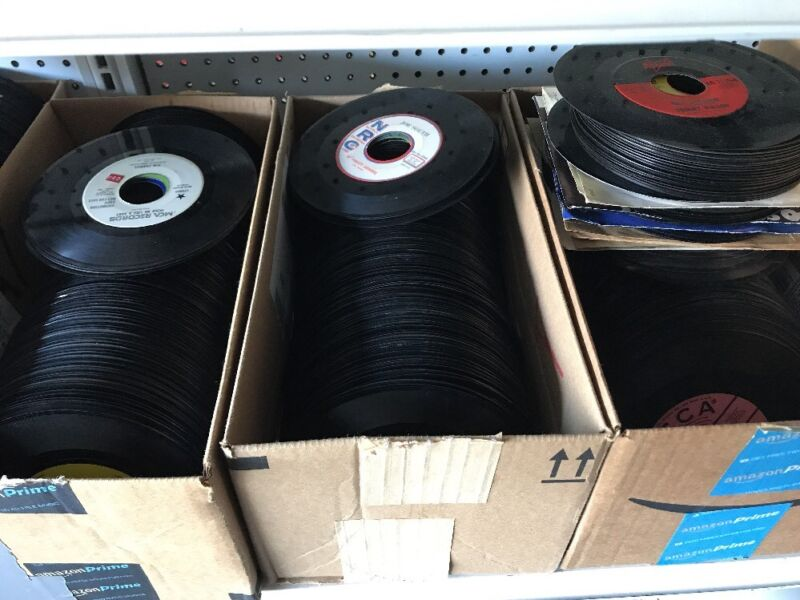 Lot Of 100 Various 45s Unsorted All Genres 7 Inch Records