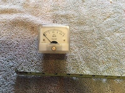 Vtg Radio Panel Meter Triplett Ac Volts 0-3 Me119