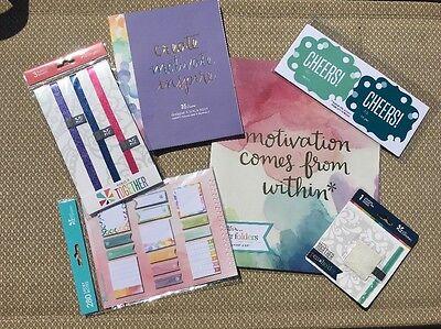 Erin Condren Lot Planner Supplies Sticky Notes Bands Stickers Pen Holder Folders