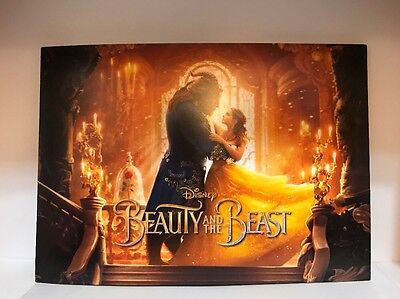 DISNEY BEAUTY AND THE BEAST LIVE ACTION MOVIE LITHOGRAPH PRINT SET 4 LIMITED