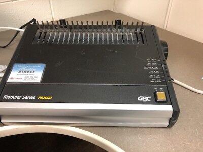 Gbc Modular Series Pb2600 Comb Binding Bind Finishing Machine 62813j