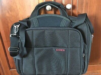 "Codi Black Briefcase 16"" Laptop Computer Carrying Case Messenger Bag, samsonite,"