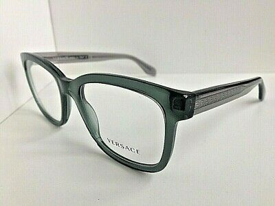 New Versace Mod. 3932 Clear Green 54mm Men's Eyeglasses Frame Italy #9