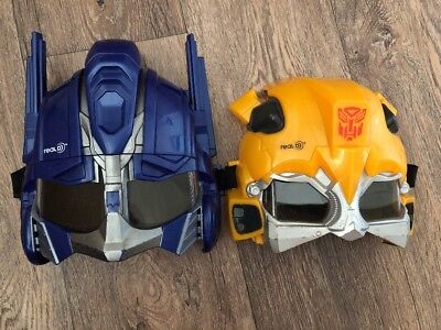 Transformers Real 3D Optimis prime And bumble bee Rare 3D Masks