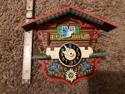 Vintage German Miniature Coocoo Clock Untested Vintage Used Repair As Is Tiny