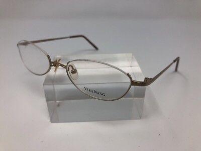 Vera Wang Eyeglasses V04 YG 47-17-130 Half Rimless Matte Gold 5057