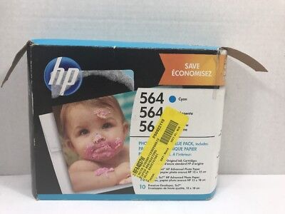 80 Black Value Pack - Open Box HP 564 Photo & Card Value Pack Cyan & Magenta Ink Cartridges No Yellow