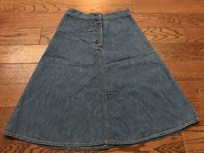 Vintage 70's UFO Denim Skirt - Youth 10