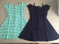 Girls Dresses X2 10 Years Free Spirit, Cold Shoulder (like new Condition)