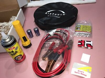 Roadside Car Emergency Kit Jumper Cables, Tire Inflator, Flair, etc Airtouch