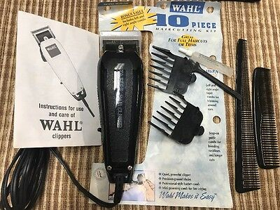 Wahl Hair Clipper 10 pc Haircut Kit  #79620-500  Clippers Trimmers Shaving Hair for sale  Shipping to India