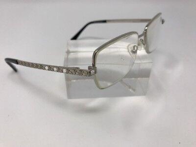 Dream Eyewear Eyeglasses H625 Silver Black Stones Flex Hinge 52-16-145 F79