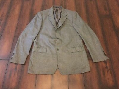 Men's TURNBURY Gray Sportcoat Jacket Blazer 42 L 42L LONG