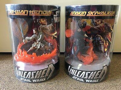 Hasbro 2006 Star Wars III Unleashed Anakin & Obi-Wan Kenobi Action Figure/Toy