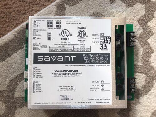Savant/ LiteTouch Fan Control Module LMC-FAN120-00 120V