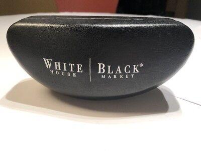 White House Black Market Hard Clamshell Sunglass Eyeglass Case Black (Sunglass Market)