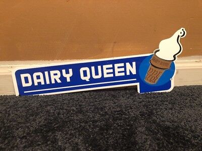 Dairy Queen Ice Cream Cone 12  Metal Fast Food Restaurant  Gas Oil Sign Vintage