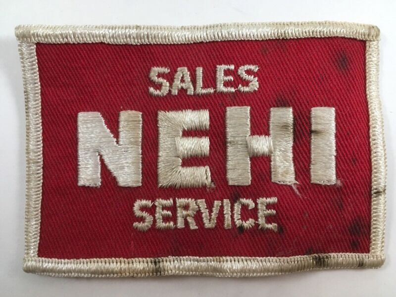 Vintage NEHI Sales Service Sew-On Patch Rare Uniform Soda Soft Drink Cola Pop