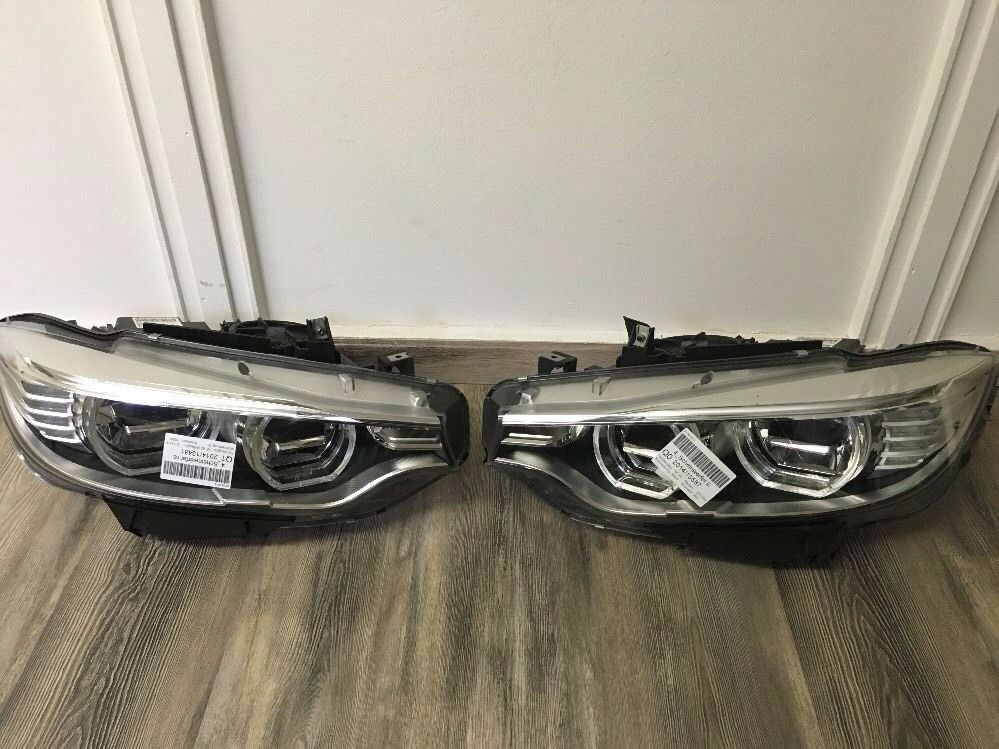 Right hand drive UK BMW 4er F32 33 36 2013 2017 xenon LED headlights RHD *some broken clips*