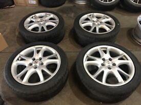 "Genuine Porsche Cayenne Turbo 4x 20"" Alloy Wheels"