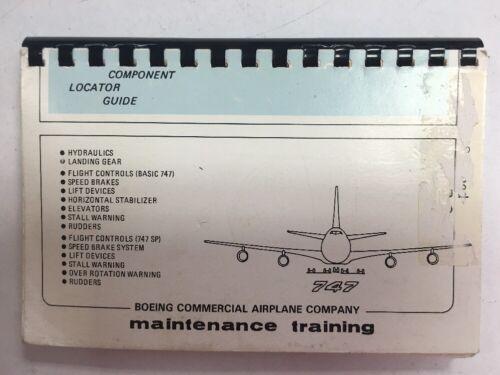 Boeing 747 Original Maintenance Training Components Locator Guide