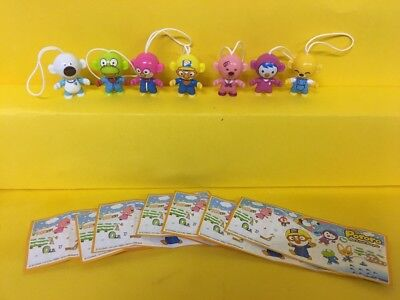 Komplettsatz Pororo The Little Pinguin SE733 - SE738 aus Singapore allen 7  BPZ