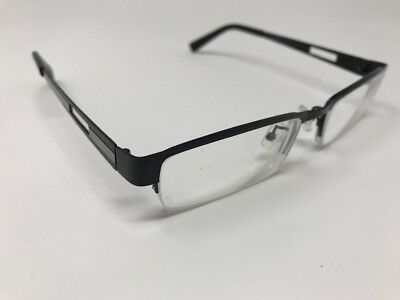 Eye Buy Direct Eyeglasses Frames Half Rimless Alfonso 51-17-139 Black Tan 2227