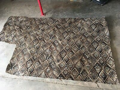 Antique Carpet Large 220x280cm steampunk art retro rare vintage Car Rat Rod Vw