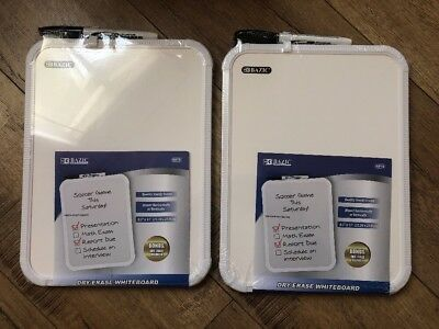 2x Dry Erase White Board Color With Bonus X2 Dry Erase Marker