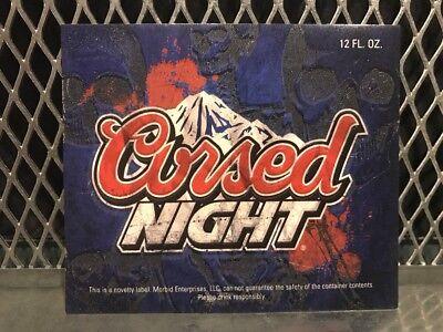 Halloween Beer Labels (COORS LIGHT BEER Mock Bottle Label ~ CURSED NIGHT ~ Funny Halloween)
