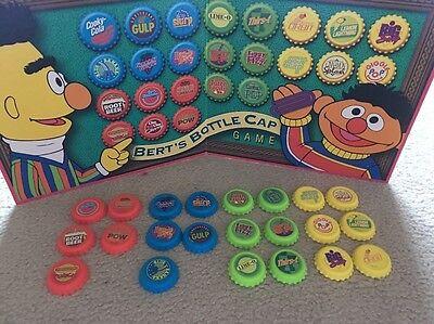 SESAME STREET Bert's Bottle Caps Game - REPLACEMENT BOARD & PIECES](Bert Bottle Caps)