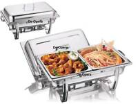 2x Brand new stainless steel chafing dish