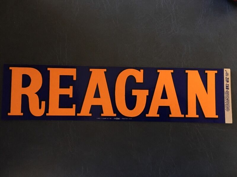 Vintage Original Ronald Reagan Campaign Bumper Sticker