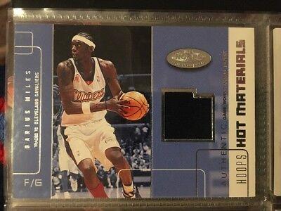 NBA Jersey Card Darius Miles Fleer Hot Materials 02-03